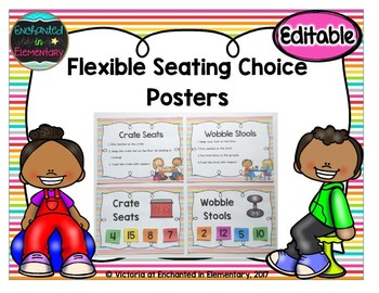 Flexible Seating Choices and Expectations Posters