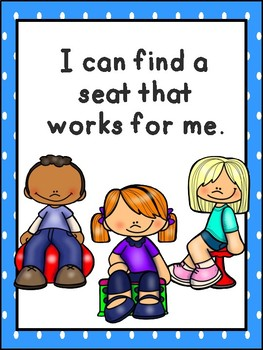 Flexible Seating - Classroom Rules posters and Seating Choice Board