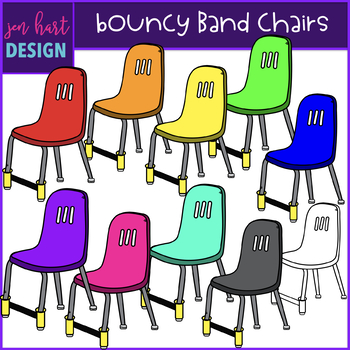 Flexible Seating Clip Art - Bouncy Band Chairs {jen hart Clip Art)