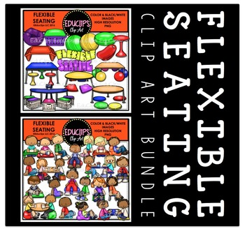 Flexible Seating 1 Clip Art Bundle Educlips Clipart By