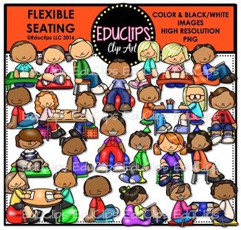 Flexible Seating 1 Clip Art Bundle {Educlips Clipart}