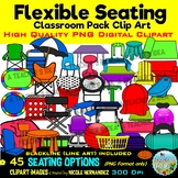 Flexible Seating Clip Art for Commercial Use- Classroom Pack