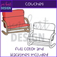 Flexible Seating Clip Art - Couches {jen hart Clip Art)