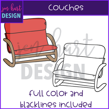 Flexible Seating Clip Art - Couches {jen hart Clip Art}