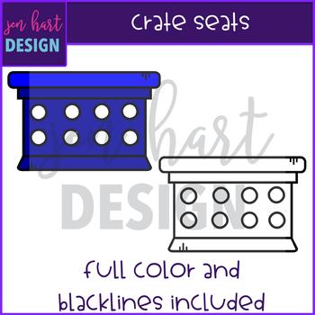 Flexible Seating Clip Art - Crate Seats{jen hart Clip Art}