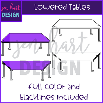 Flexible Seating Clip Art - Lowered Tables {jen hart Clip Art)