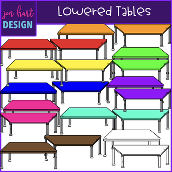 Flexible Seating Clip Art - Lowered Tables {jen hart Clip Art}