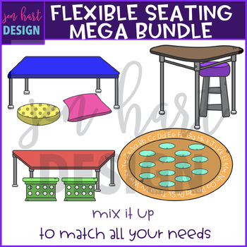 Flexible Seating Clip Art - Mega Bundle {jen hart Clip Art)