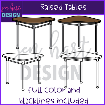 Flexible Seating Clip Art - Raised Tables {jen hart Clip Art}