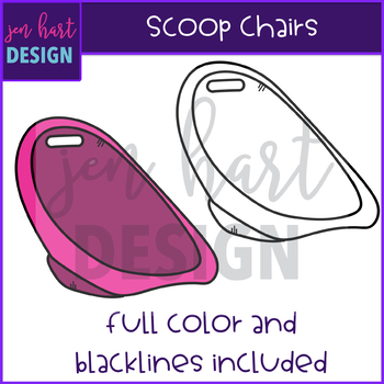 Flexible Seating Clip Art - Scoop Chairs {jen hart Clip Art)