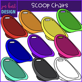 Flexible Seating Clip Art - Scoop Chairs {jen hart Clip Art}