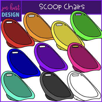 Charming Flexible Seating Clip Art   Scoop Chairs {jen Hart Clip Art}