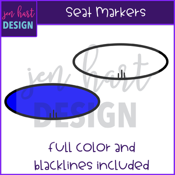 Flexible Seating Clip Art - Seat Markers {jen hart Clip Art)