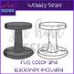 Flexible Seating Clip Art - Wobbly Chairs {jen hart Clip Art}