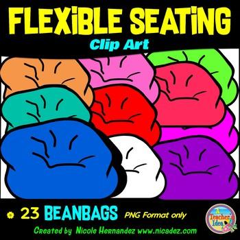Flexible Seating Clip Art for Teachers - Beanbags