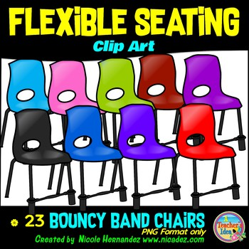 Flexible Seating Clip Art for Teachers - Bouncy Band Chairs