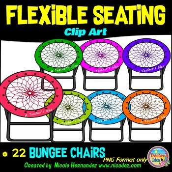 Flexible Seating Clip Art for Teachers - Bungee Chairs