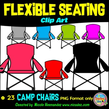 Flexible Seating Clip Art for Teachers - Camp Chairs
