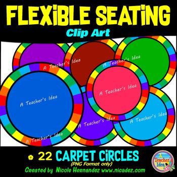 Flexible Seating Clip Art for Teachers - Carpet Circles
