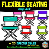Flexible Seating Clip Art for Teachers - Director Chairs