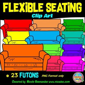 Flexible Seating Clip Art for Teachers - Futons
