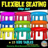 Flexible Seating Clip Art for Teachers - Kids Tables