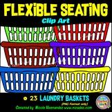 Flexible Seating Clip Art for Teachers - Laundry Baskets