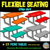 Flexible Seating Clip Art for Teachers - Picnic Tables