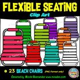 Flexible Seating Clip Art for Teachers - Beach Chairs
