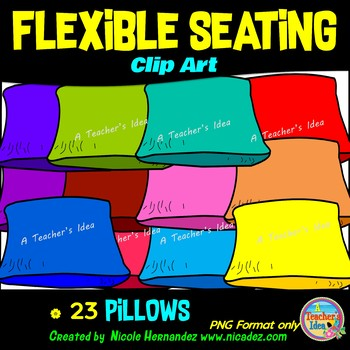 Flexible Seating Clip Art for Teachers - Pillows