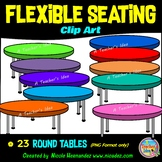 Flexible Seating Clip Art for Teachers - Round Tables