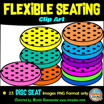 Flexible Seating Clip Art Commercial Use - Disc Seats