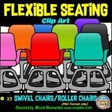 Flexible Seating Clip Art for Teachers - Swivel Chairs
