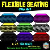 Flexible Seating Clip Art for Teachers - Tire Seats