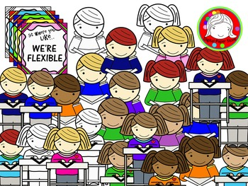 Flexible Seating Clipart (Personal & Commercial Use)