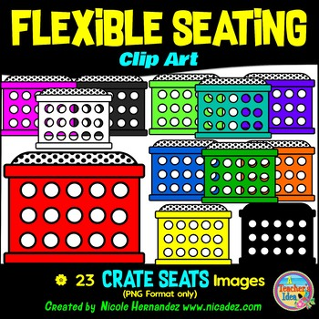 Flexible Seating Clip Art for Teachers - Crate Seats
