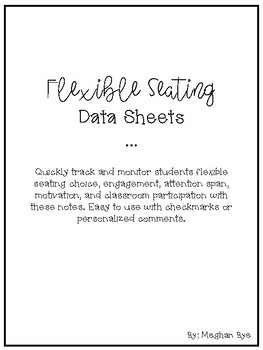 Flexible Seating Data Sheets