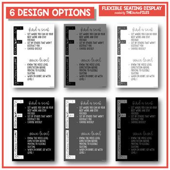 Flexible Seating Display Posters {Editable}