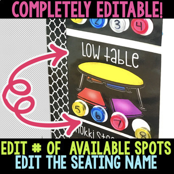 EDITABLE Flexible Seating Choice Board Chart