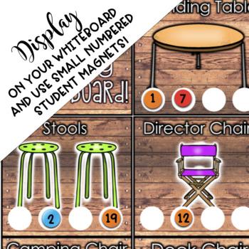 Flexible Seating EDITABLE Shiplap Choice Board Chart
