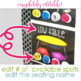Flexible Seating EDITABLE Choice Board and Rule Poster Bundle for Management