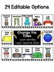 Flexible Seating Choice Charts - Editable