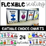 Flexible Seating Editable Choice Charts