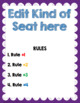 Flexible Seating Editable Rules