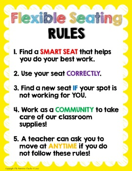 Flexible Seating Editable Rules