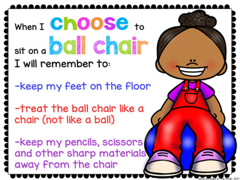 Flexible Seating Editable Rules Choice Cards & Posters #4forfall