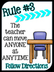 Flexible Seating Expectation Posters
