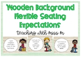 Flexible Seating Expectation Posters (Wood Background) #ausbts18