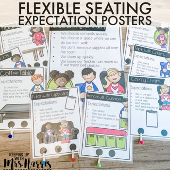 Flexible Seating Expectation and Seating Choice Posters