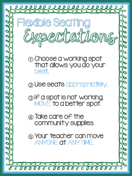 Flexible Seating Expectations